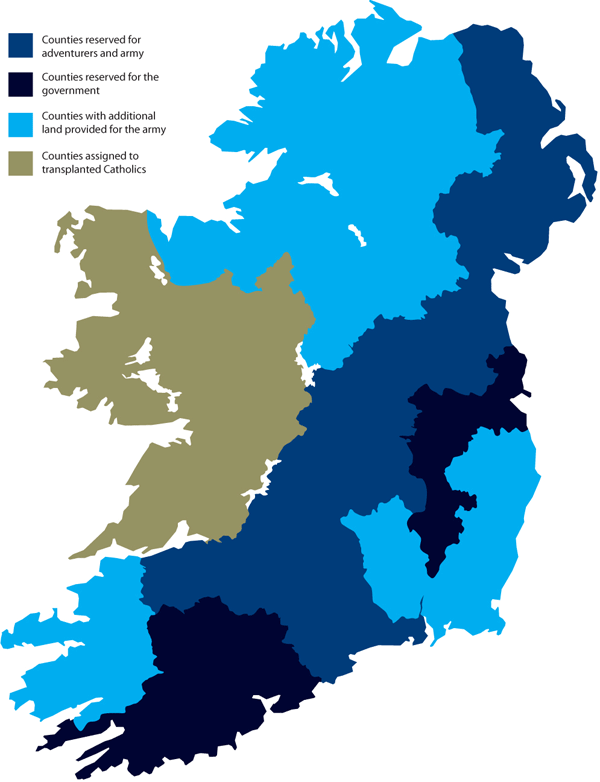 Map of the Cromwellian Land Confiscation