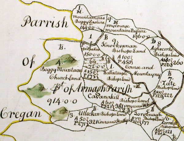 Hand Drawn Map of the Parrish of Cregan