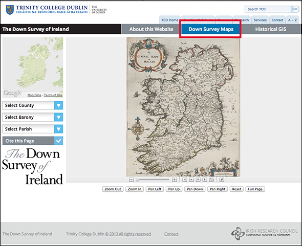Down Survey Maps Link